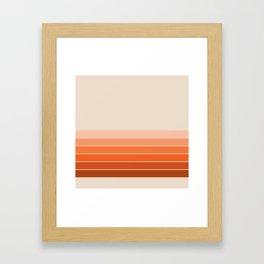 Red Rock Spring Stripes Framed Art Print