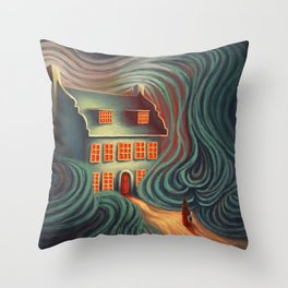 Wecome home, sweety Throw Pillow