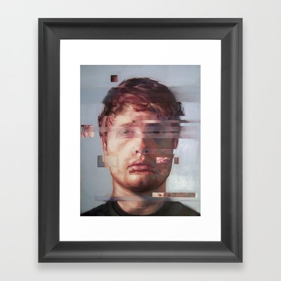 Fusion portrait series Framed Art Print