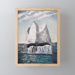 Morning splash Framed Mini Art Print