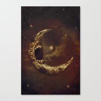 murakami Canvas Prints featuring Star Eater by Mikio Murakami