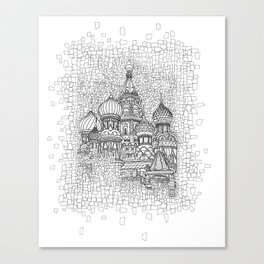 Red Square Canvas Print