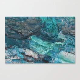 Cerulean Blue Marble Canvas Print