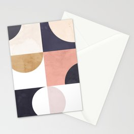 Geometric Moontime 1 Stationery Cards