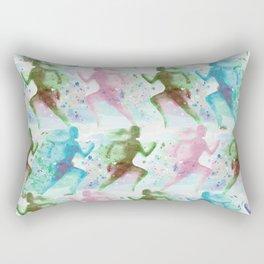 Watercolor women runner pattern Rectangular Pillow