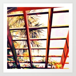 View From the Pergola Art Print