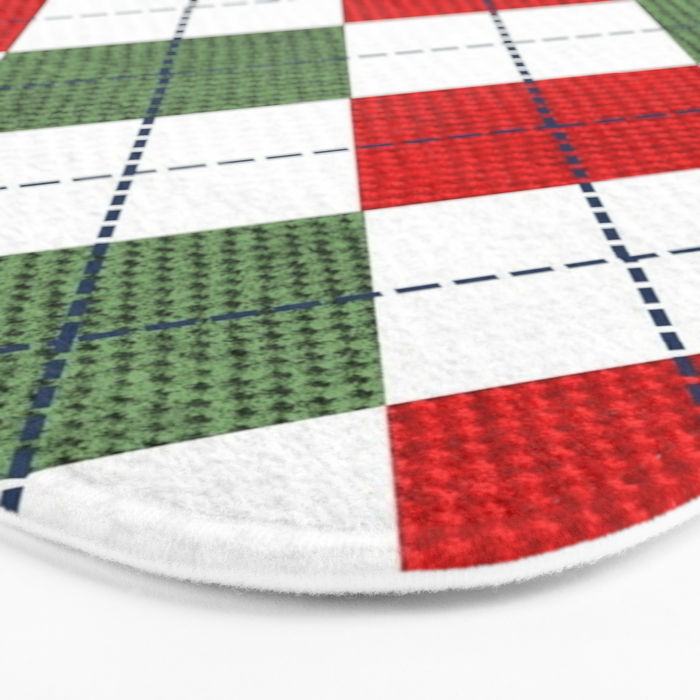 Argyle Christmas Spirit Bath Mat