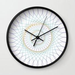 Iridescent Spirograph Pattern I Wall Clock