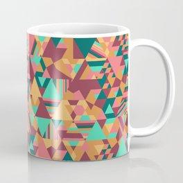 Colourful triangular mosaic in orange, red and green Coffee Mug