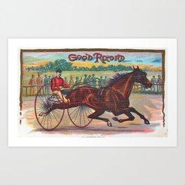 Good Record Vintage Horse Racing Art Print