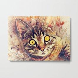 Cat Tigger Metal Print