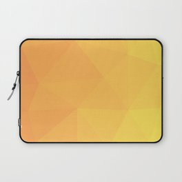 Abstract Geometric Gradient Pattern between Light Orange and Light Yellow Laptop Sleeve