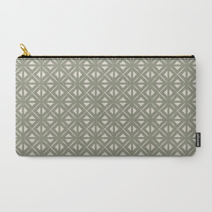 Bohemian Tile in Sage Carry-All Pouch