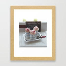 Vintage Sweet Ice Cream Framed Art Print