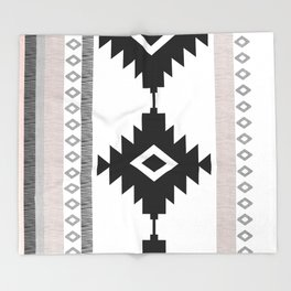 Pueblo in Pink Throw Blanket