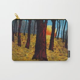 Trunks trees in sunrise Carry-All Pouch
