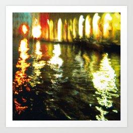 City Lights: Venice – Canal Grande – Mercato # 210 Art Print
