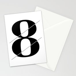 """""""Sliced Collection"""" - Minimal Number Eight Print Stationery Cards"""