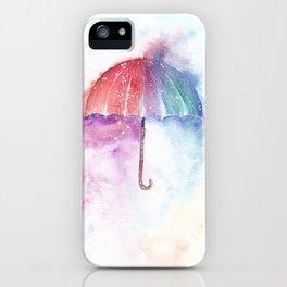 Loose Watercolor Umbrella iPhone Case
