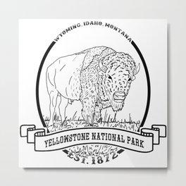 Yellowstone Emblem Metal Print
