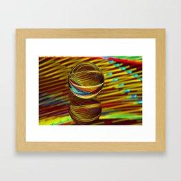 Golden Ball Framed Art Print