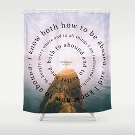 Phillipians 4 Shower Curtain
