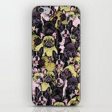Social French Bulldog iPhone & iPod Skin
