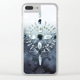 Shungite Crystal Grid - Cleanse Clear iPhone Case