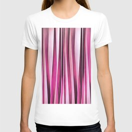 Rose Wine and Burgundy Stripy Lines Pattern T-shirt