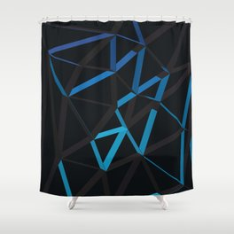 3D Futuristic GEO Lines VI Shower Curtain