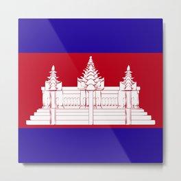 Cambodia flag emblem Metal Print