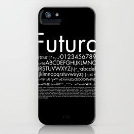 Futura (White) iPhone Case
