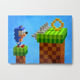 Sonic's dilemma Metal Print