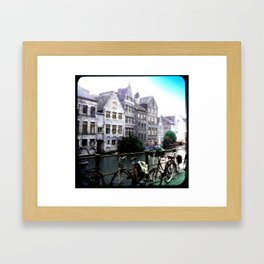 Gent, Belgium Postcard/Print Framed Art Print