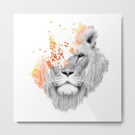 If I roar (The King Lion) Metal Print