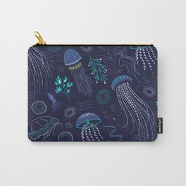 Into the Deep Jellies - Navy Carry-All Pouch