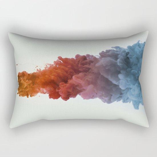 Ink Rainbow Rectangular Pillow