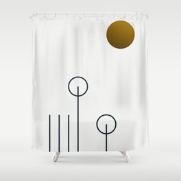 Soir 04 //  ABSTRACT GEOMETRY MINIMALIST ILLUSTRATION Shower Curtain