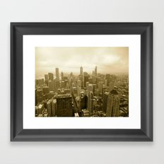 Chicago - View from John Hancock Framed Art Print