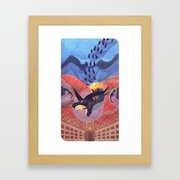 hunger and greed Framed Art Print