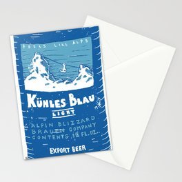 Kuhles Blau Light Stationery Cards