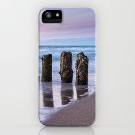 Groynes on the Baltic Sea coast iPhone Case