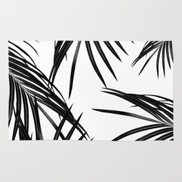 Black Palm Leaves Dream #1 #tropical #decor #art #society6 Rug