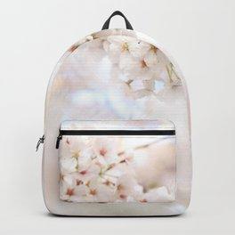 CLOSEUP PHOTOGRAPHY WHITE CHERRY BLOSSOMS Backpack