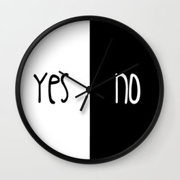 Yes/No Wall Clock