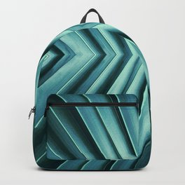 Emerald, abstract. Backpack