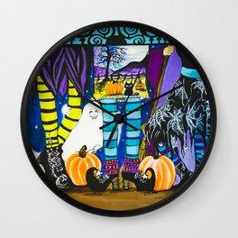 Halloween Peek a Boo Wall Clock