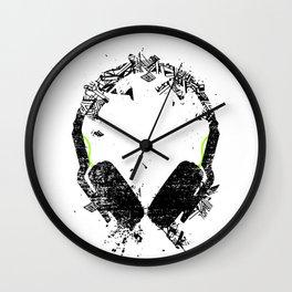 Art Headphones Wall Clock