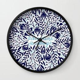 Adventure is Calling – Porcelain Palette Wall Clock
