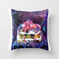 cake Throw Pillows featuring Cake by Andreea Maria Has